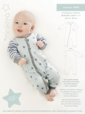 MiniKrea-11470-Sleepsuit-Sewing-Pattern